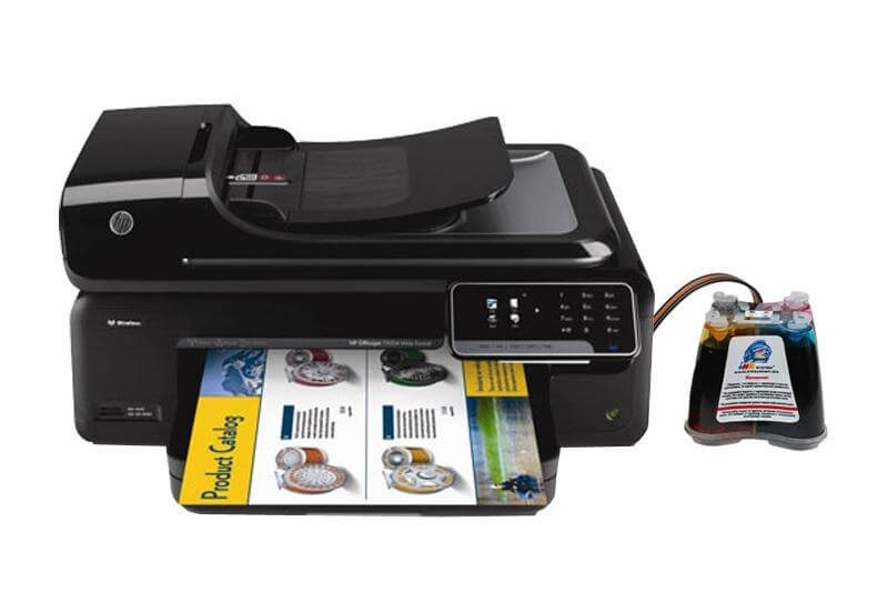 МФУ HP OfficeJet 7500A с системой НПЧ
