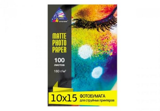 фото Матовая фотобумага INKSYSTEM Matte Photo Paper 180g, 10x15, 100 листов