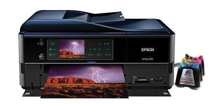 фото МФУ Epson Artisan 837 Refurbished с СНПЧ