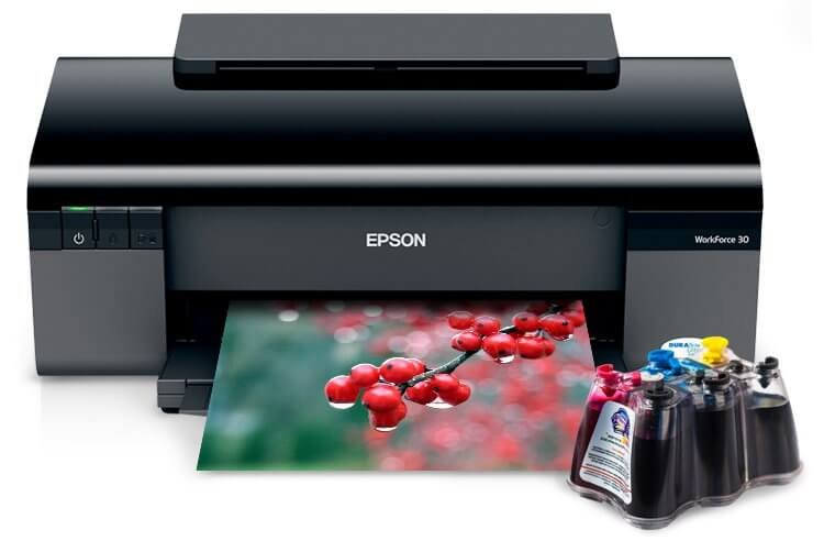 Принтер Epson Workforce 30 Refurbished с СНПЧ
